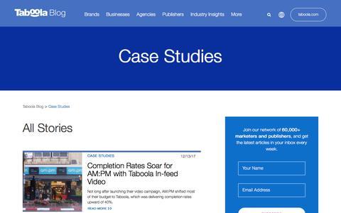 Screenshot of Case Studies Page taboola.com - Case Studies Archives - Page 2 of 6 - Taboola Blog - captured April 13, 2018