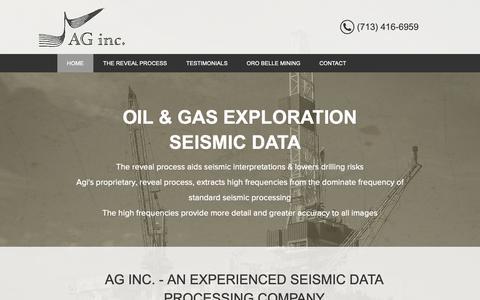 Screenshot of Home Page andrewsgeoscience.com - Andrews Geoscience - captured Dec. 18, 2018