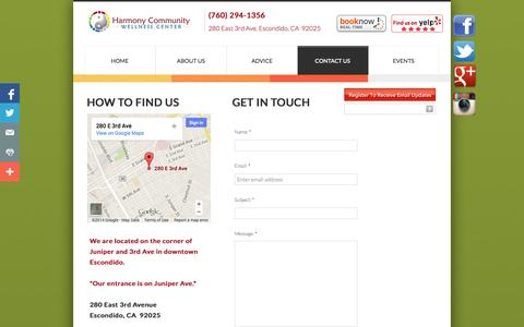 Screenshot of Privacy Page Contact Page hcwcenter.com - Contact Us - captured Oct. 22, 2014