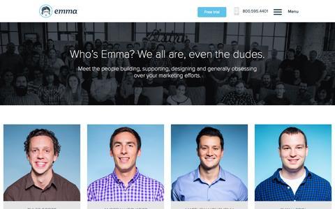 Screenshot of Team Page myemma.com - Email Marketing Services - Email Marketing Software - Email Marketing | Emma, Inc. - captured Oct. 22, 2015