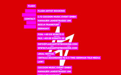Screenshot of Contact Page flashartistbooking.com - CONTACT | FLASH - captured March 1, 2016