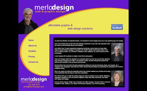 Screenshot of About Page merlodesign.com - About MerloDesign - captured Oct. 29, 2014