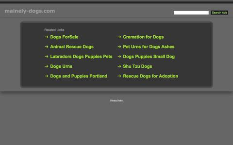 Screenshot of Home Page mainely-dogs.com - Mainely-Dogs.com - captured April 10, 2017