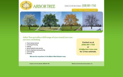 Screenshot of Home Page arbor-tree.com - Arbor Tree - captured Oct. 4, 2014