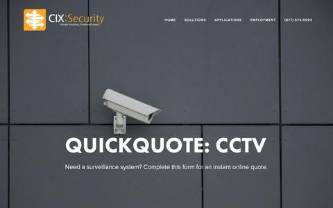 Screenshot of Pricing Page c-ix.com - Pricing — C-IX Security - captured Nov. 9, 2018