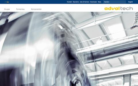 Screenshot of Home Page advaltech.com - Adval Tech - Adding value through innovation | Adval Tech - captured Dec. 23, 2015