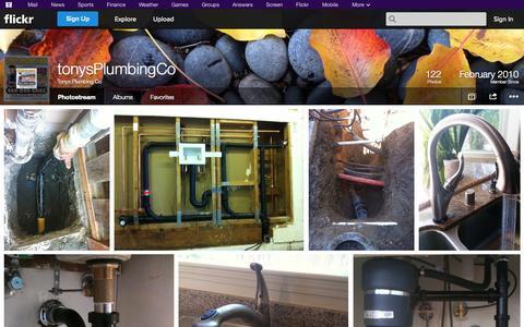 Screenshot of Flickr Page flickr.com - Flickr: Tonys Plumbing Co's Photostream - captured Oct. 24, 2014