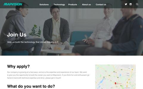 Screenshot of Jobs Page mapvision.fi - Careers | Mapvision - captured July 18, 2018