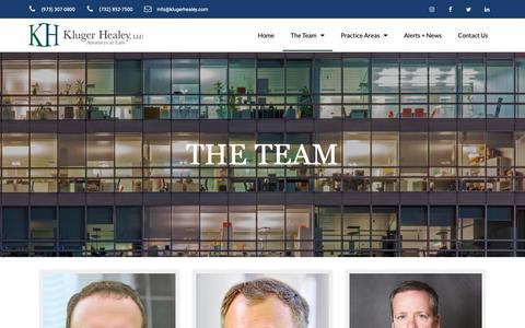 Screenshot of Team Page klugerhealey.com - Our Team – Kluger Healey – Attorneys at Law - captured Nov. 15, 2018