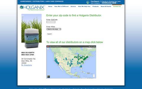 Screenshot of holganix.com - Holganix - Company Contact Information - captured March 19, 2016