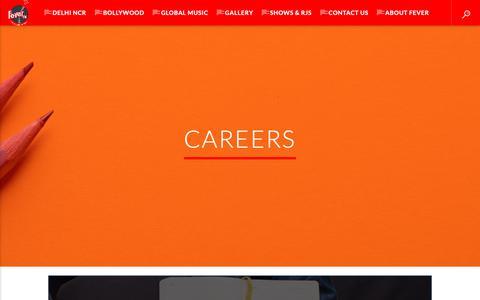 Screenshot of Jobs Page fever.fm - Careers – Fever FM - captured Oct. 10, 2018