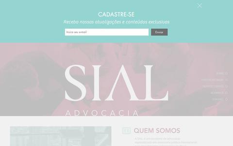 Screenshot of Home Page lawsial.com - SIAL | Direito Internacional para Empresas Goiania Compliance SaoPaulo - captured Sept. 29, 2017