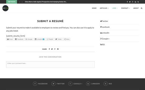 Submit a Resumé – CleanTechies