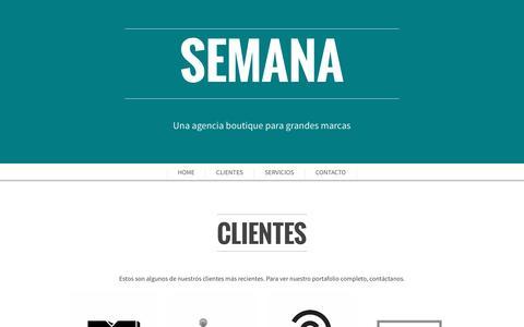 Screenshot of Home Page proyectosemana.com - SEMANA - captured Nov. 16, 2016