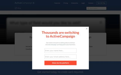 Screenshot of Blog activecampaign.com - ActiveCampaign Email Marketing Blog   Email marketing blog discussing email marketing features, deliverability, new marketing ideas, and more. - captured Aug. 21, 2016