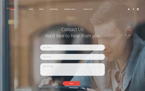 Screenshot of Contact Page themodernpilot.com - Contact Us |  The Modern Pilot - captured Aug. 15, 2016