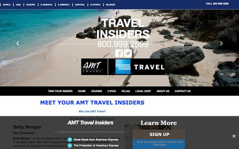 Screenshot of About Page amt-travel-insiders.com - Learn About AMT American Express Travel Insiders - captured Feb. 11, 2018