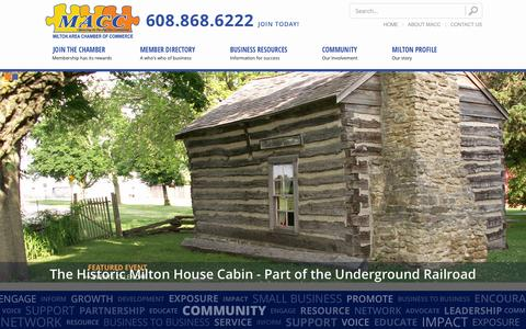 Screenshot of Terms Page maccit.com - Milton Area Chamber of Commerce, Industry & Tourism > Home - captured Oct. 27, 2014