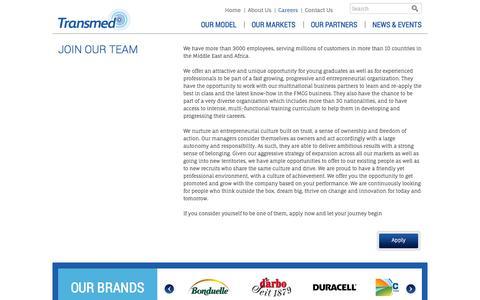 Screenshot of Jobs Page transmed.com - Transmed - Careers - captured Oct. 7, 2014