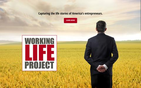 Screenshot of Home Page workinglifeproject.com - The Working Life Project - captured Feb. 16, 2016