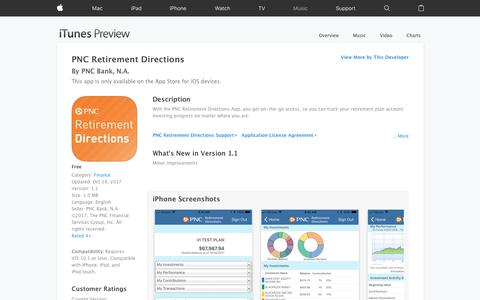 PNC Retirement Directions on the App Store