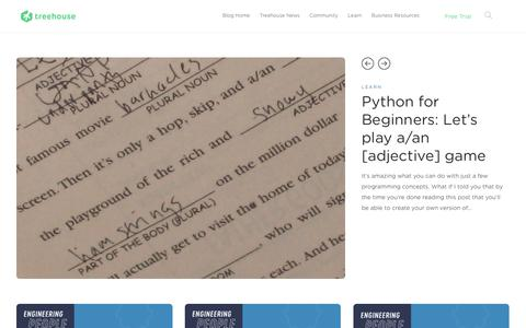 Screenshot of Blog teamtreehouse.com - Treehouse Blog - Learn to code and change your life! - captured Oct. 23, 2018