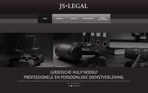 Screenshot of Home Page js-legal.nl - JS Legal Home - captured Oct. 3, 2014