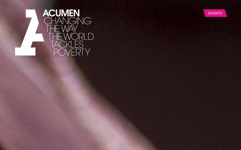 Screenshot of Home Page scene9.com - Acumen is a Bold New Way of Tackling Poverty - captured Dec. 22, 2015