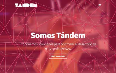 Screenshot of Home Page soytandem.com.ar - Tándem - captured Oct. 7, 2014