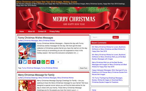 Screenshot of Home Page christmas-newyear.com - Merry Christmas and Happy New Year 2018 Images, Wishes, Quotes - captured Feb. 23, 2018
