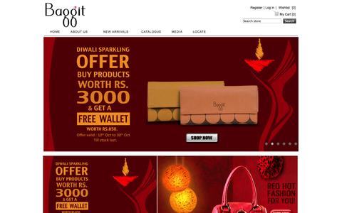 Screenshot of baggit.com - Baggit.com- Handbags India | Buy Bag Online | Ladies Handbags | Women Handbags Online India | Clutches | Wallets | Laptop Bags - captured Oct. 21, 2014