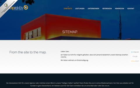 Screenshot of Site Map Page shopjektiv.de - Shopjektiv - - captured Oct. 7, 2014