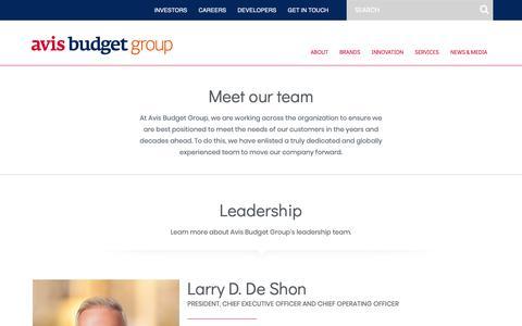 Screenshot of Team Page avisbudgetgroup.com - Our Team – Avis Budget Group - captured Feb. 12, 2019