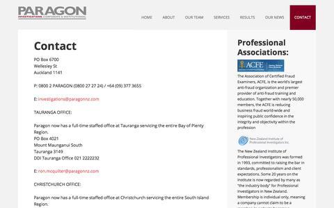 Screenshot of Contact Page paragonnz.com - Paragon NZ - Contact - captured July 13, 2017