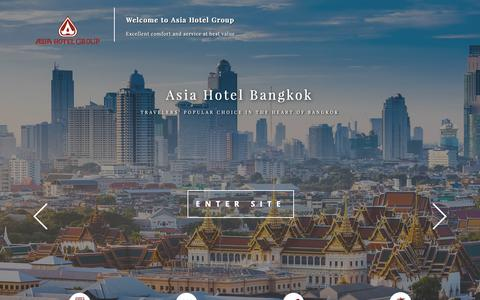 Screenshot of Home Page asiahotel.co.th - Asia Hotel Group - captured Oct. 4, 2018