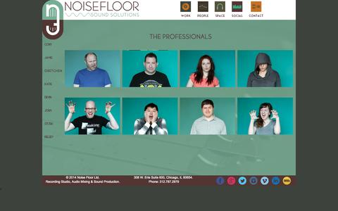Screenshot of Team Page noise-floor.com - People, Professionals and Team - NoiseFloor Sound Production Studio - captured Oct. 7, 2014