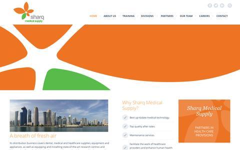 Screenshot of Home Page sharqmedicalsupply.com - Home | Sharq Medical Supply - captured Sept. 30, 2014