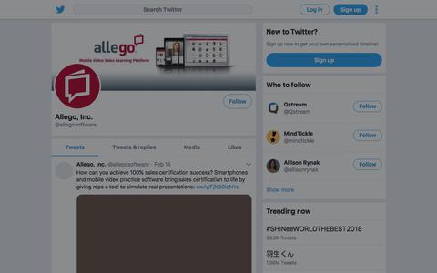 Tweets by Allego, Inc. (@allegosoftware) – Twitter