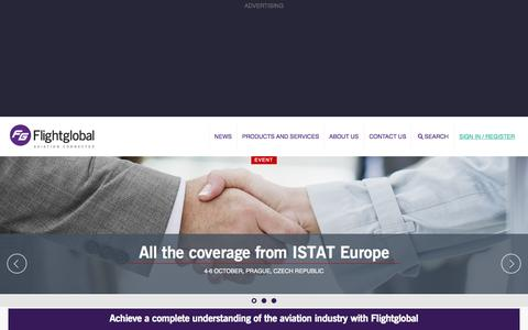 Screenshot of Home Page flightglobal.com - Aviation News | Aviation Industry and Airline Statistics | flightglobal.com - captured Oct. 5, 2015