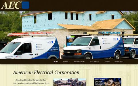 Screenshot of Home Page americanelectricalcorporation.com - American Electrical Corporation | Central Florida's premiere commercial and residential electrical contractor - captured Sept. 30, 2014
