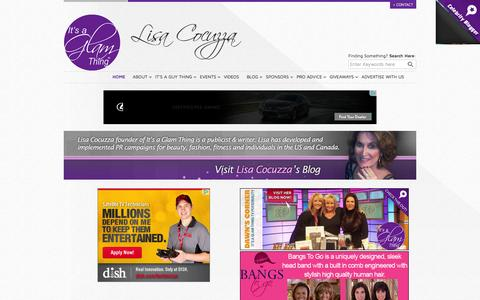 Screenshot of Home Page itsaglamthing.com - It's A Glam Thing - Lisa Cocuzza - captured Sept. 23, 2014