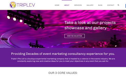 Screenshot of About Page triplev.com.sg - About Event Marketing Company Singapore - captured Feb. 25, 2016