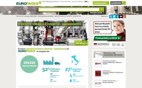 Screenshot of europages.es - Ingeniería mecánica e industrial - equipamientos , todos los proveedores para España y Europa de EUROPAGES - captured Sept. 12, 2015