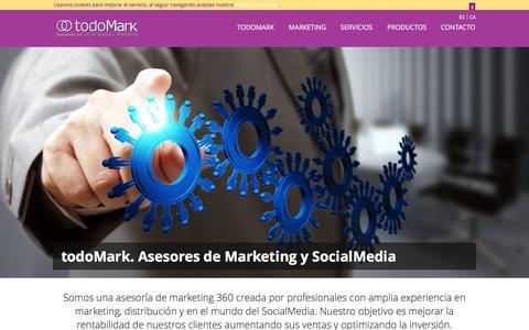 Screenshot of Home Page todomark.com - todoMark. Asesores en Marketing y SocialMedia - captured Feb. 16, 2016