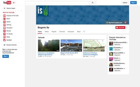 Screenshot of YouTube Page youtube.com - Bogaris Sa  - YouTube - captured Oct. 23, 2014