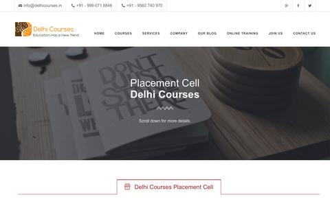 Screenshot of Jobs Page delhicourses.in - Delhi Courses Placement Cell - captured Jan. 15, 2016