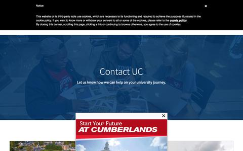 Screenshot of Contact Page ucumberlands.edu - Contact Us | University of the Cumberlands - captured Oct. 2, 2018