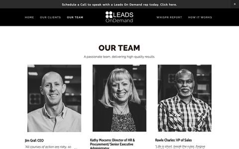 Screenshot of Team Page leadsondemandinc.com - Our Team — Leads On Demand - captured Feb. 15, 2019