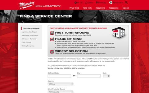 Find A Service Center | Milwaukee Tool