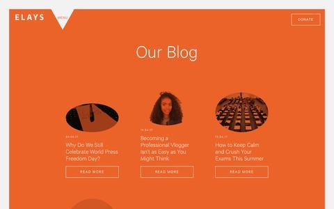 Screenshot of Blog elaysnetwork.com - Our Blog - Elays - captured May 15, 2017